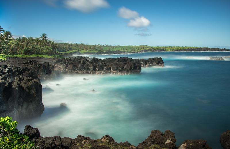 Black Lava Seascape, Maui, Hawaii