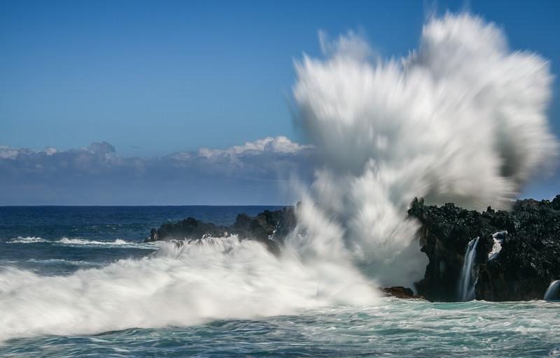 Winter Surf Seascape, Maui, Hawaii