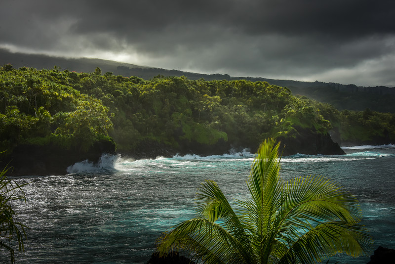 Seascape on North Shore of Maui, Hawaii