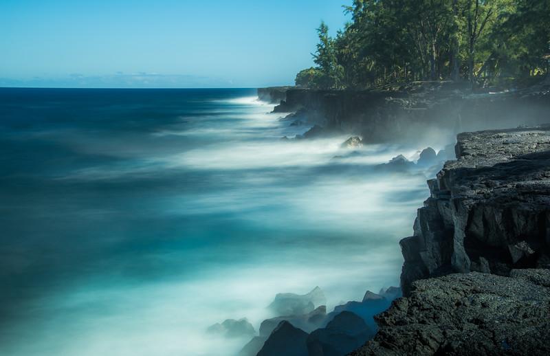 Black Lava Cliffs on North Shore of Maui, Hawaii