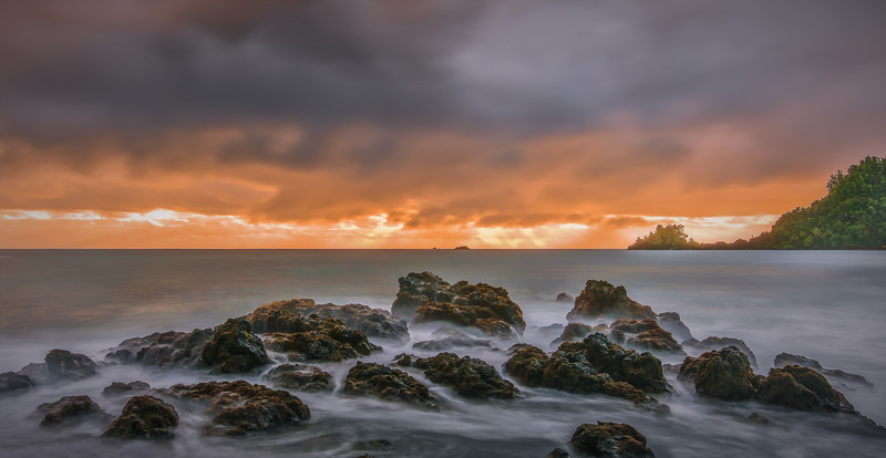 Sunrise on Hana Beach, Maui, Hawaii