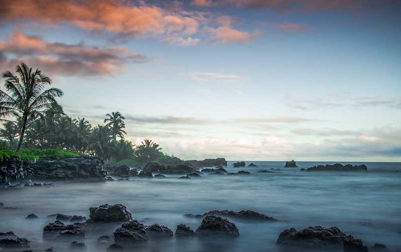 Sunset on Hana Beach, Maui, Hawaii