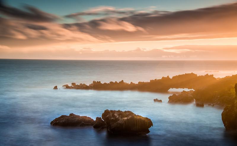 Sunrise at Waianapanapa State Park, Maui, Hawaii
