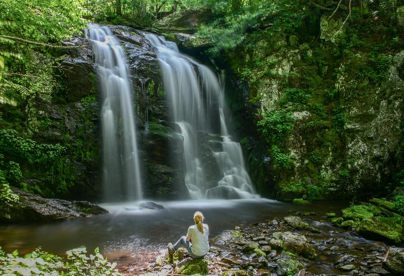 A quiet moment at Naked Creek Falls, Shenadoah National Park, Virginia.