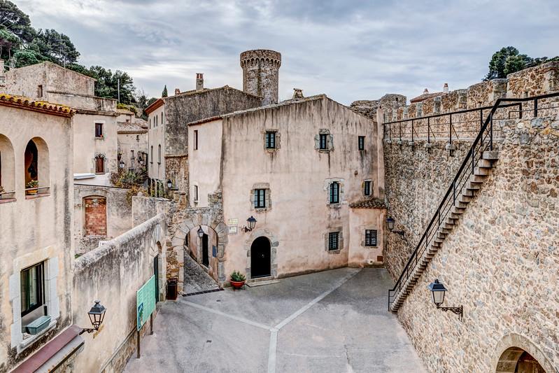 Inside Tossa de Mar Walls (Girona, Catalonia)