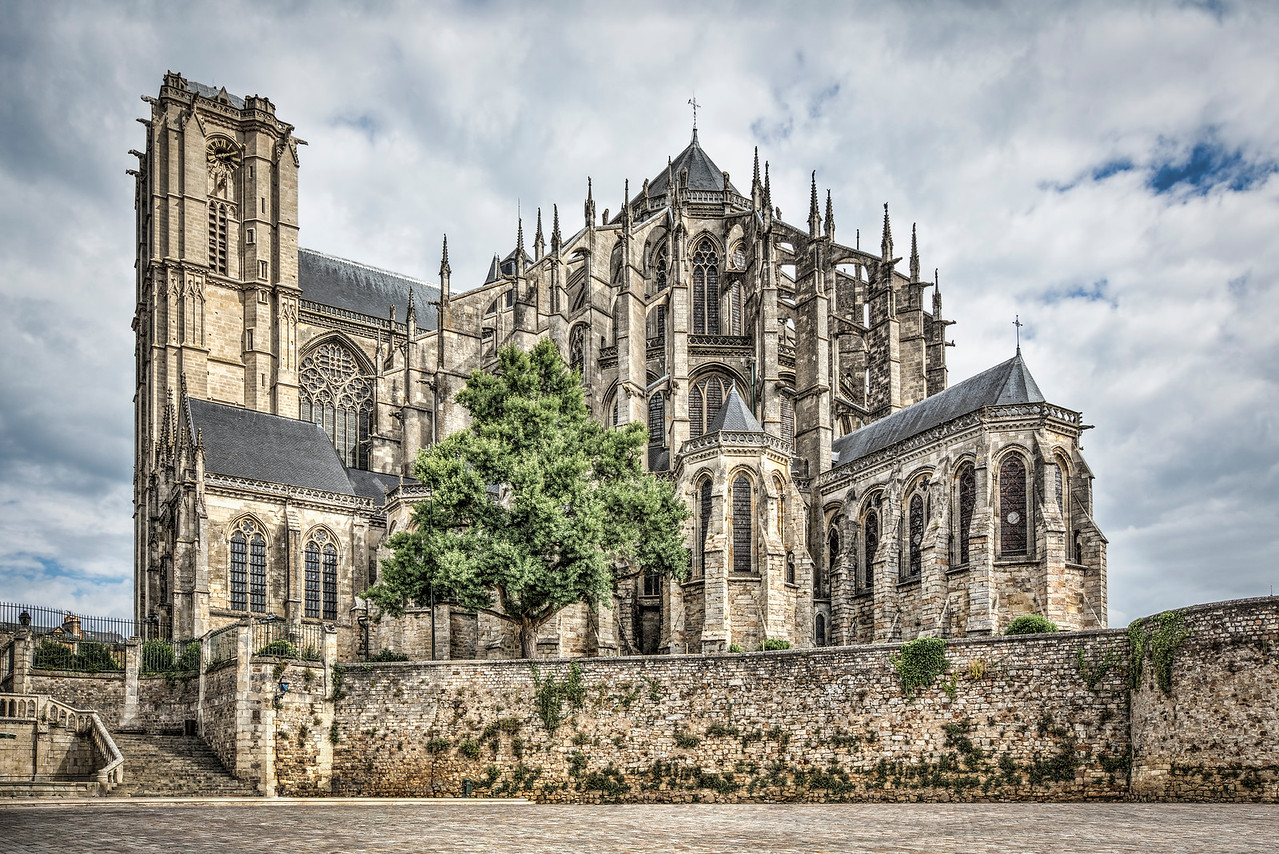 Cathedral of Saint Julian of Le Mans (France)