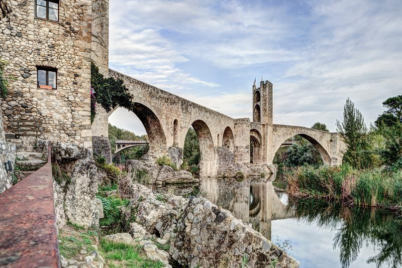 Besalú's Romanesque Bridge (Catalonia)