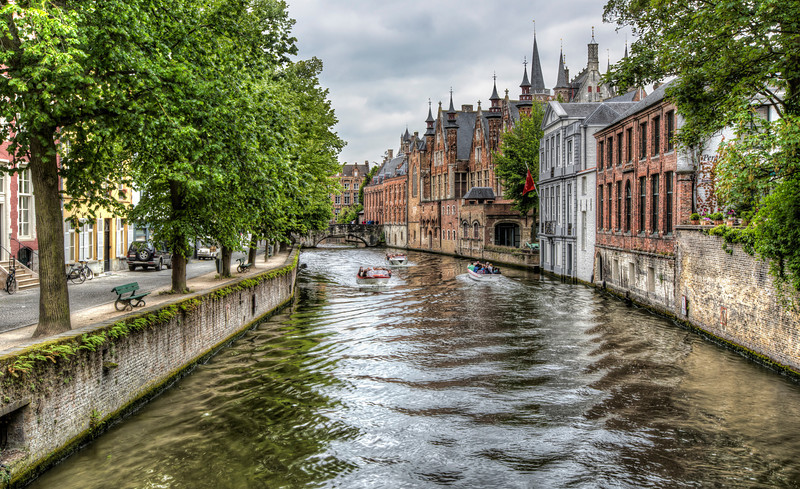 The Groenerei Canal in Bruges (Belgium)