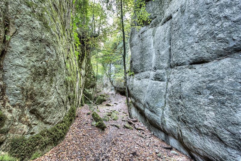 Walking Between Rock Walls (Santa Maria de Besora, Catalonia)