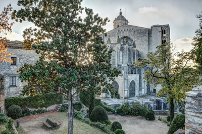 The Backyard of Girona Cathedral