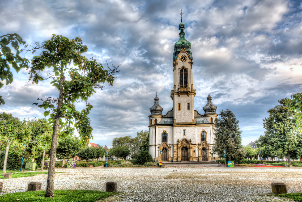Hockenheim's Protestant Church (Germany)