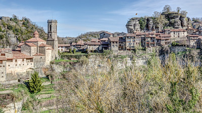 Panoramic View of Rupit i Pruit (Catalonia)