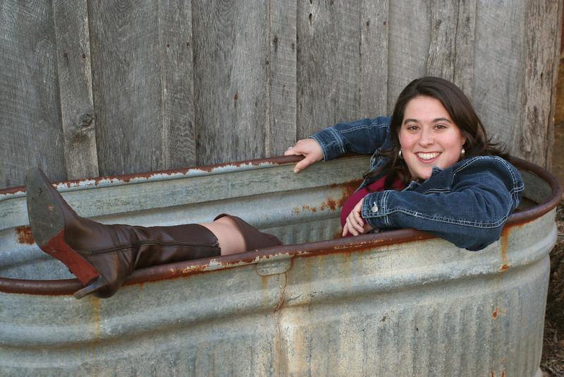 ozark bathtub (nice boots, Melissa!)