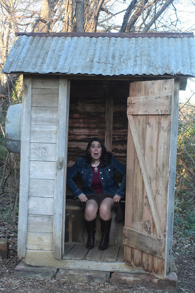 caught in the outhouse!