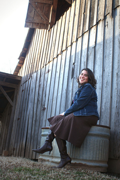 by the old barn