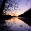 Lake fayetteville sunset