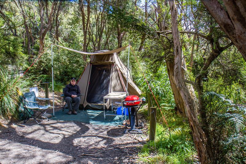 Campsite no. 8, Blanket Bay