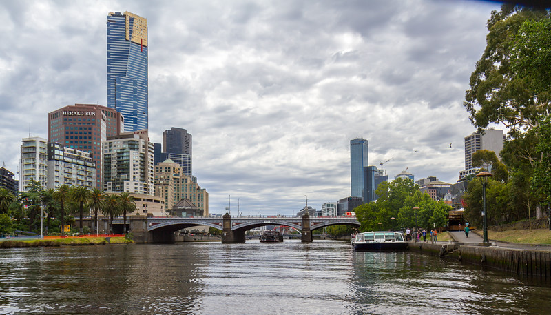 Southbank to the left, CBD to the right.