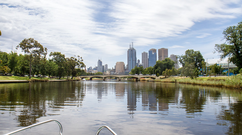 Melbourne CBD downstream from Punt Road