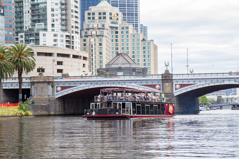 Tour boat on the Yarra River