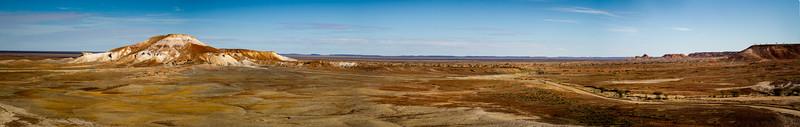 Arckaringa Hills 5 image merged panorama (Painted Desert, SA)