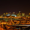 Phoenix, AZ  Sky harbor Airport - Phoenix skyline from a 100 foot equipment Tower on the Airport