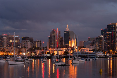San Diego Harbor at Dusk