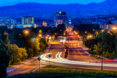Boise Idaho at Dusk