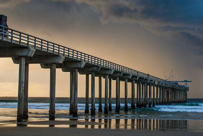 Winter Storm Over Scripps Pier