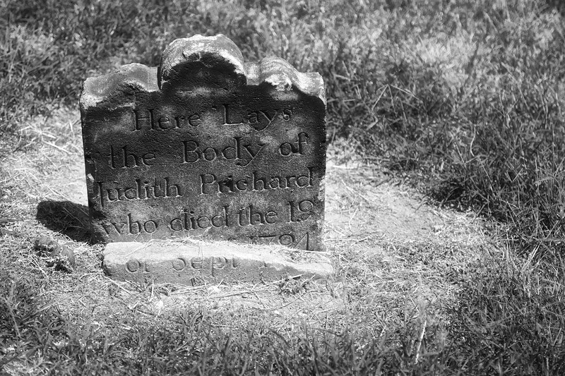 Tombstone of Judith Prichard