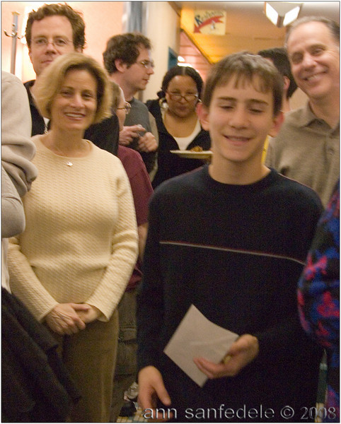 14 year old Matthew Silver was the winner of Division 3 -<br /> His proud mother is seen here on the left.