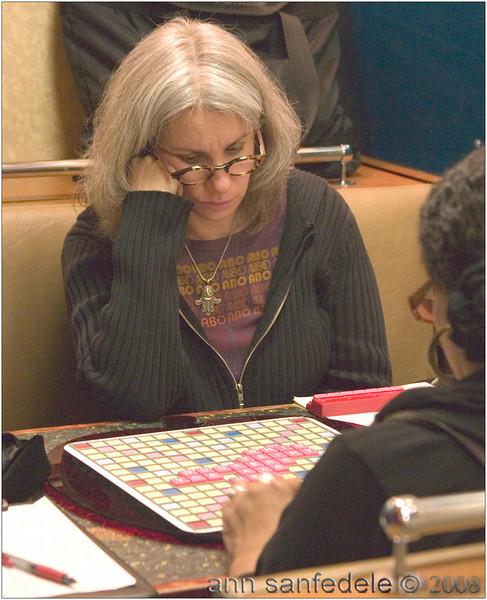 Lynda Kraar ponders a move. Is this round 7?