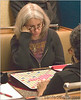 Lynda Kraar ponders a move. Is this round 7?