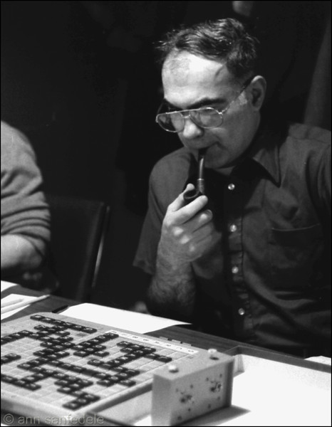Al Weissman at the game room - Game Room tourney Day 1 (prelim round) Dec, 1979.