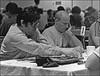 Bob Felt (L) and Bob Lipton (R) at table 3 at the<br />  Masters Tournament in 1991 in Cinncinnati