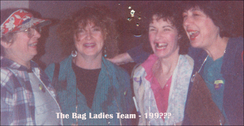 Another Team.. The Bag Ladies - don't know who took this photo...<br /> L to R, Me, Rita, Jan Dixon, Susi Tiekert.