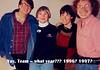 At one of the team tourneys - 1996? 1997? L to right, Merrill Kaitz, Rita, Jan Dixon, Paul Avrin