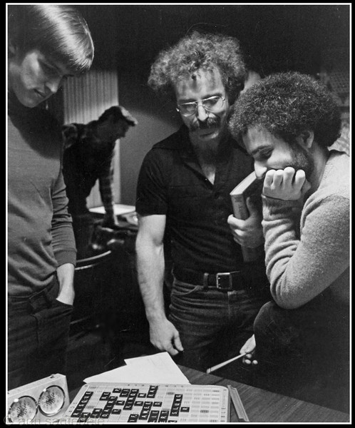 At the <i> Game Room</i> in 1979, Frank Voss, Paul Avrin and Seth Schoenwald t in the postmortem ritual.