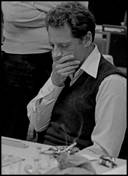 Jack Eichenbaum considers his next play in the final game of the Washington, D.C. tournament in 1982. <br> We were still playing with sand timers in those days - which possibly contributed to Eichenbaum not winning the tournament.