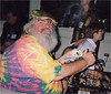 Frank Lee chowing down at the reception in Chicago for the 1998 National Scrabble Championship.<br /> RIP, Frankly