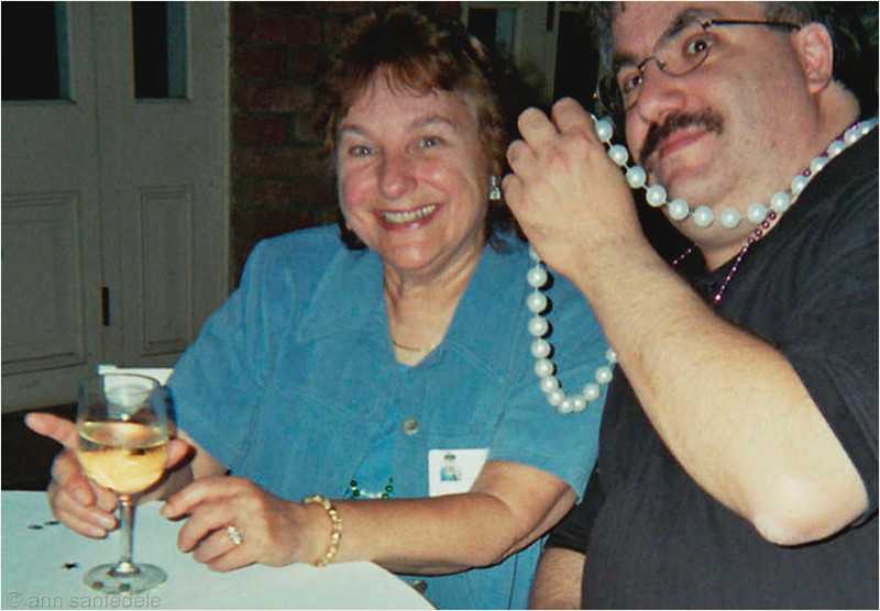 Rose Kreiswirth and Frank Tangredi at Dorothy Siegel's 80th  birthday bash in New Orleans (during the 2004 NSC) . A scan from an low res film snapshot - all I could find in my files right now.  R.I.P., Rosie - we'll miss you so much.