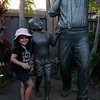 Lila was charmed by the place's director, who invited her to pose with the statue.