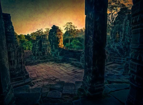 Ancient Blue Temple