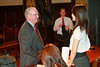 New York - April 15: President and CEO of the YMCA of Greater New York Jack Lund (L) greets students in session at Teens Take The City Hall Event 2010 at City Hall on Thursday, April 15, 2010 in New York, NY.  (Photo by Steve Mack/S.D. Mack Pictures)