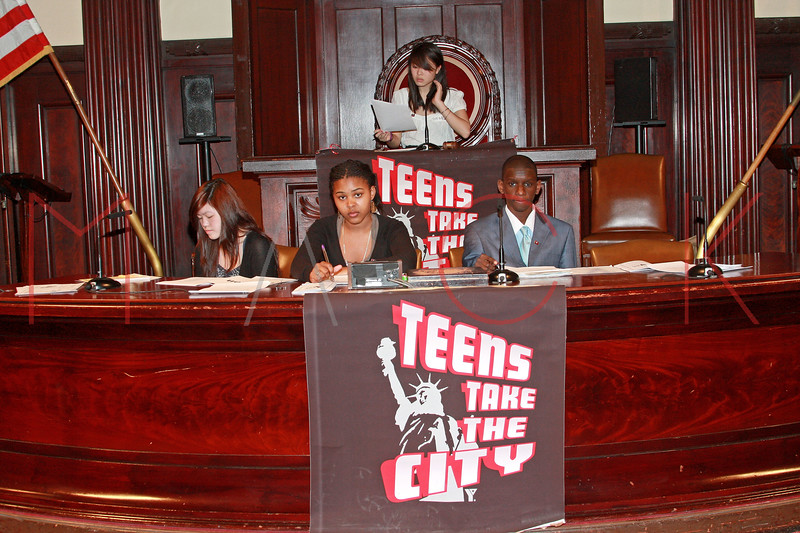 New York - April 15: Students in session at Teens Take The City Hall Event 2010 at City Hall on Thursday, April 15, 2010 in New York, NY.  (Photo by Steve Mack/S.D. Mack Pictures)