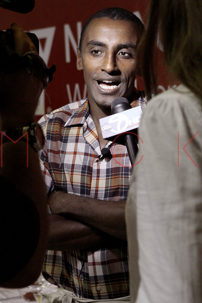 New York - August 13:  Chef Marcus Samuelsson at YMCA of Greater New York's 2nd Annual Youth Health Forum with Award-Winning Chef Marcus Samuelsson at the Harlem YMCA on Friday, August 13, 2010 in New York, NY. (Photo by Steve Mack/S.D. Mack Pictures for YMCA of Greater New York)