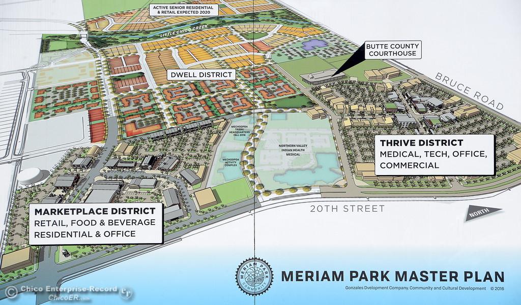 . Work is underway on various projects within the Meriam Park development Tues. Aug. 1, 2017. (Bill Husa -- Enterprise-Record)