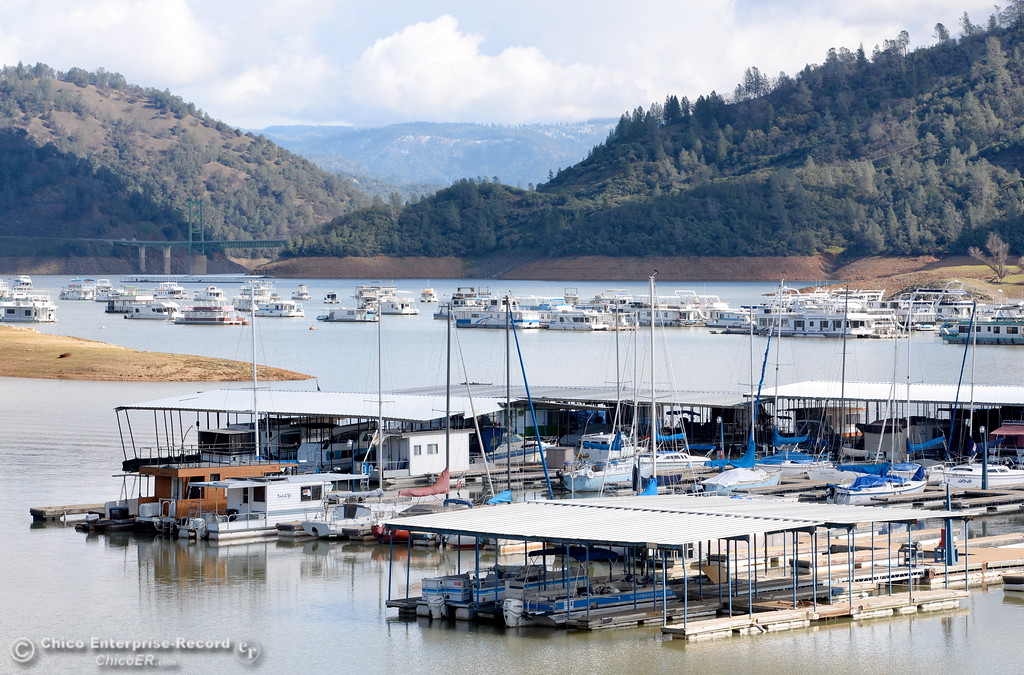 . Bidwell Canyon Marina appears to be business as usual at Lake Oroville in Oroville, Calif. Thurs. Feb. 23, 2017. (Bill Husa -- Enterprise-Record)