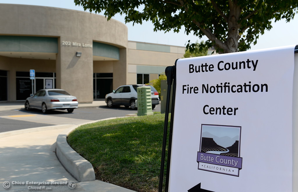 . Butte County Fire Notification Center in Oroville, Calif. Monday Sept. 4, 2017. (Bill Husa -- Enterprise-Record)