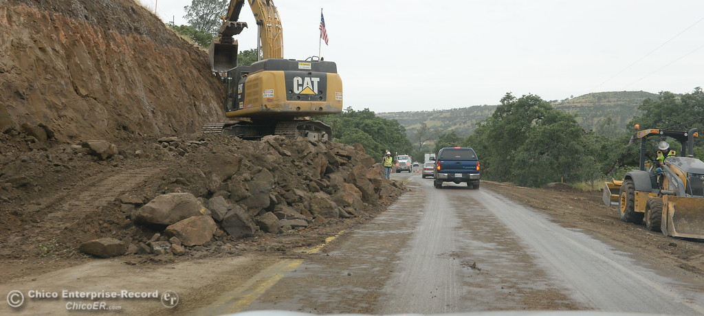 . One lane traffic that includes a wait of approx. 20-minutes is caused by road widening construction along Clark Road hwy. 191 between Paradise and Butte College Tues. May 16, 2017. (Bill Husa -- Enterprise-Record)